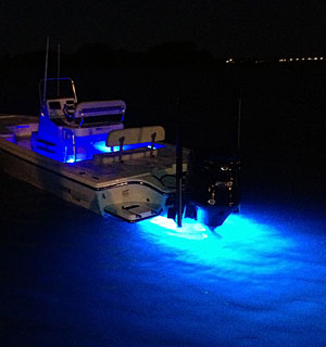 Fishing charter boat specifications for Best light for night fishing